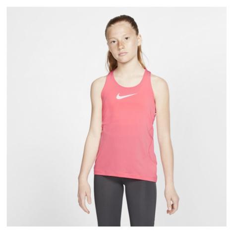 Koszulka bez rękawów dla dużych dzieci (dziewcząt) Nike Pro - Różowy