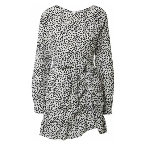 Missguided Sukienka koktajlowa czarny / biały
