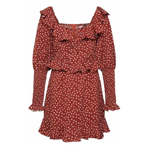 Missguided Sukienka rdzawobrązowy / ciemnoczerwony