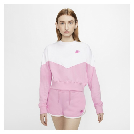 Damska bluza z dzianiny Nike Sportswear Heritage - Różowy