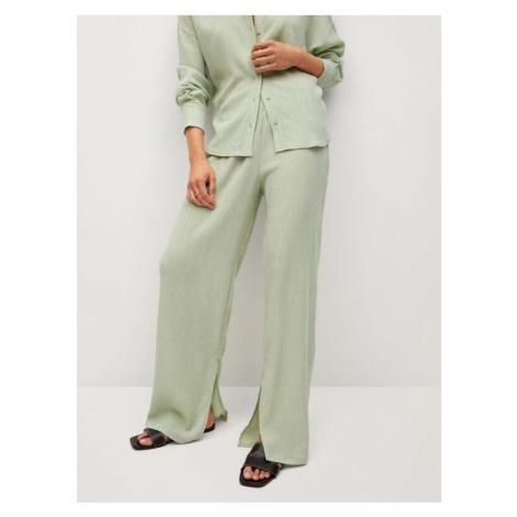 Mango Spodnie materiałowe Felipe 87076307 Zielony Relaxed Fit