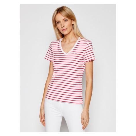 Tommy Hilfiger T-Shirt WW0WW27725 Biały Slim Fit