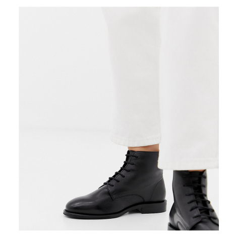 Park Lane Wide Fit Leather Flat Ankle Boots