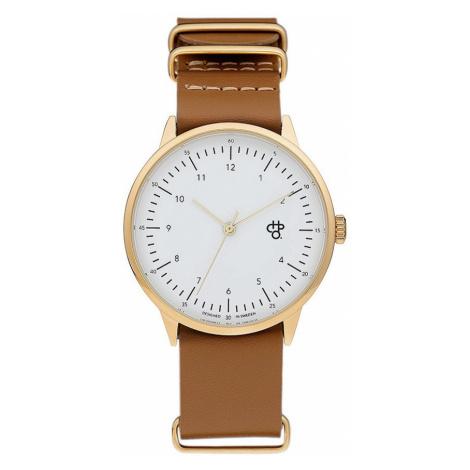 zegarek CHPO Harold Gold - 14229AA/Gold/White/Brown