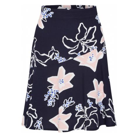 SELECTED FEMME Spódnica 'RINNA' niebieska noc / różowy pudrowy