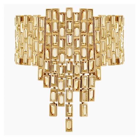 Efektowna bransoletka Fluid, brązowa, w odcieniu złota Swarovski