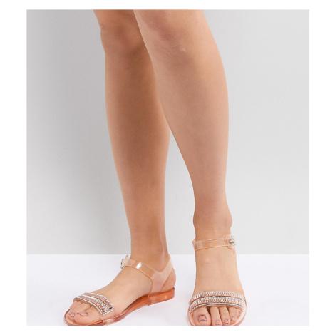 Park Lane Embellished Jelly Flat Sandals