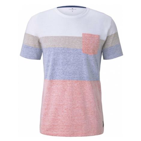 TOM TAILOR Koszulka szary / biały / różowy / niebieski