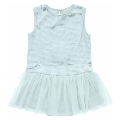 Diesel Sukienka dziecięca Biały Srebrny