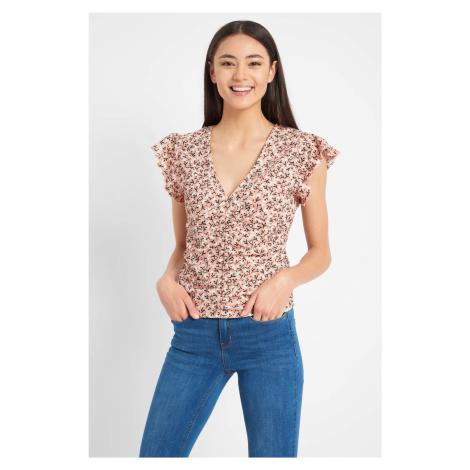 Taliowana koszulka w kwiaty Orsay