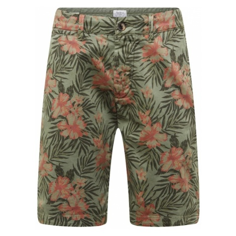 Pepe Jeans Chinosy 'MC QUEEN SHORT FLORAL' brązowy / oliwkowy