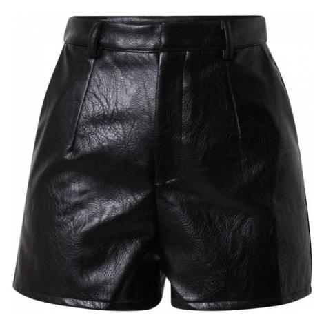 Missguided Spodnie 'Faux' czarny