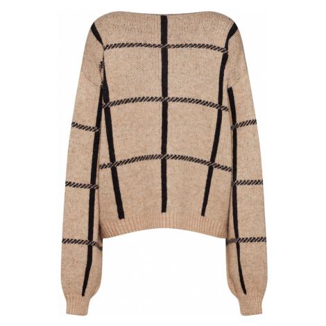 NA-KD Sweter czarny / beżowy