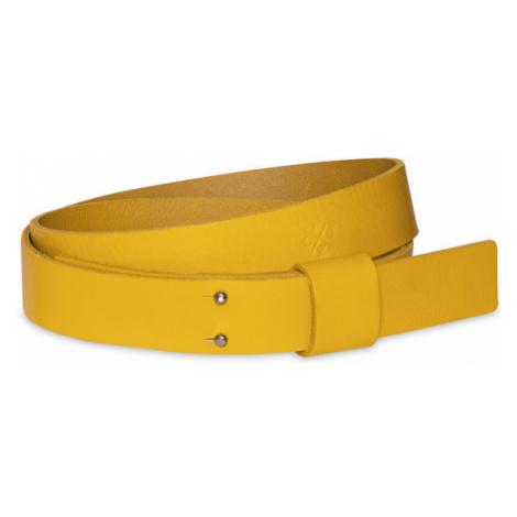 Pasek ze Skóry Naturalnej Unisex | Handmade | Żółty Balteus Bini Luteus Woox