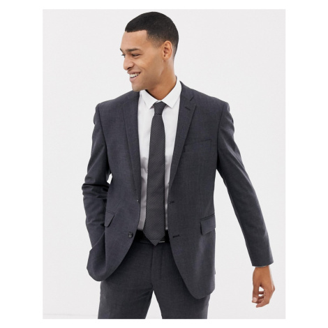 Esprit slim fit commuter suit jacket in grey check