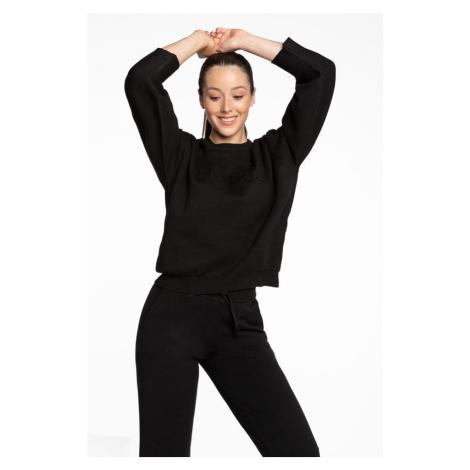 Bluza Guess Embossed Logo Rn Sweater 6I0 Black