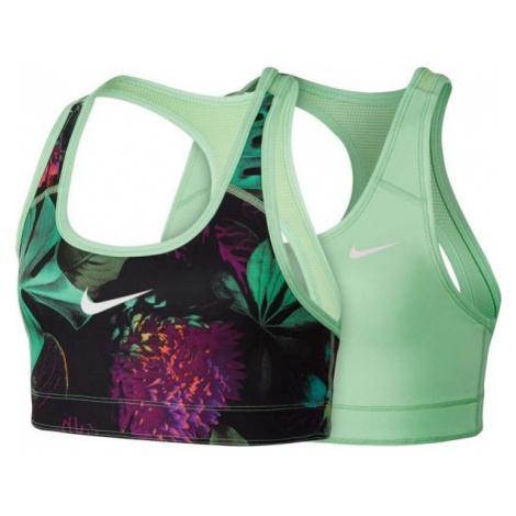 Nike NP BRA CLASSIC REV zielony M - Biustonosz sportowy dziewczęcy