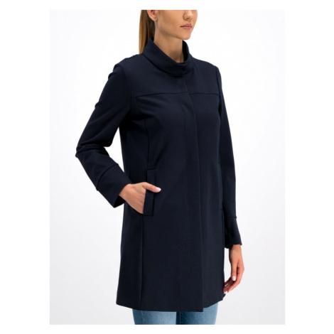 Geox Płaszcz przejściowy W Roose Long Coat W9221N T2543 F4386 Granatowy Regular Fit