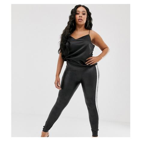 Spanx Plus faux leather side stripe legging