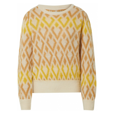 Blend She Sweter żółty / kremowy