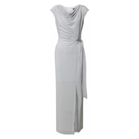 SWING Suknia wieczorowa srebrno-szary