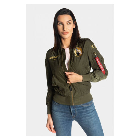 Kurtka Alpha Industries Ma-1 Missileer Wmn 257 Dark Green