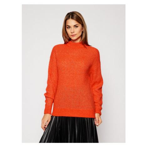 Tommy Hilfiger Sweter Textured Stitch WW0WW28892 Pomarańczowy Loose Fit