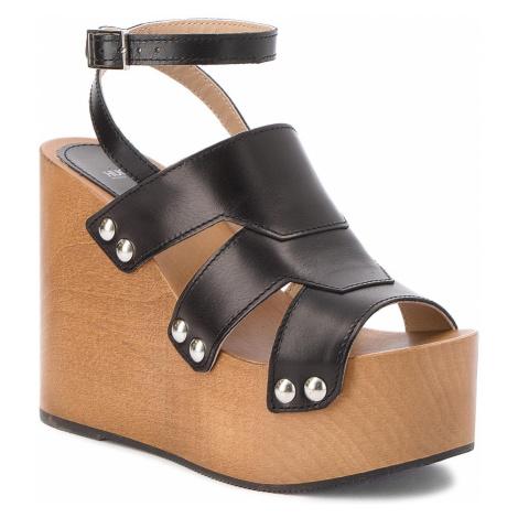 Sandały HUGO - Uptown Wedge-S 50386269 1019137001 001 Black Hugo Boss
