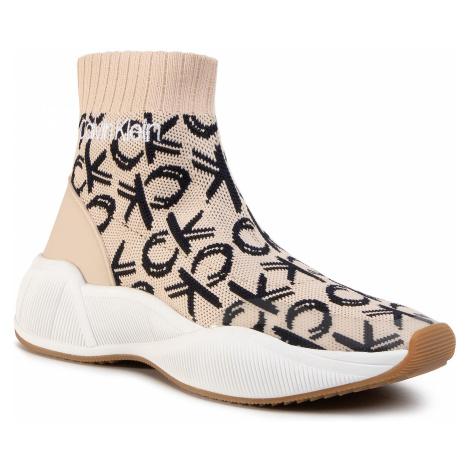 Sneakersy CALVIN KLEIN - Babele B4E7979 Light Sand/Navy