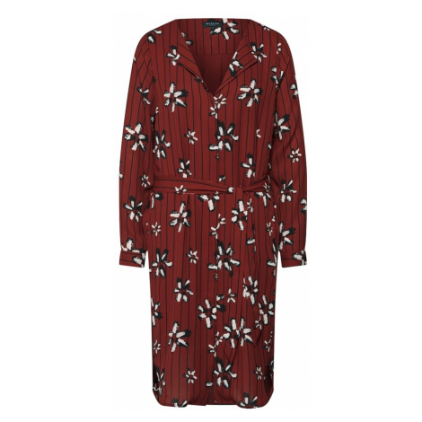 SELECTED FEMME Sukienka koszulowa 'DYNELLA' czerwony / czarny / nakrapiany biały