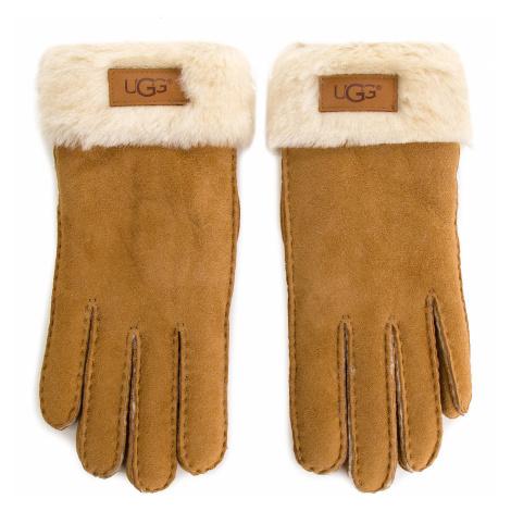 Rękawiczki Damskie UGG - W Turn Cuff Glove 17369 Chestnut