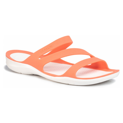 Klapki CROCS - Swiftwater Sandal W 203998 Grapefruit/White