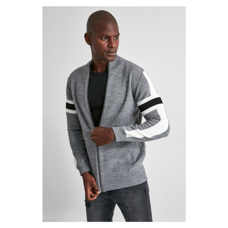Trendyol Grey Men's Cardigan