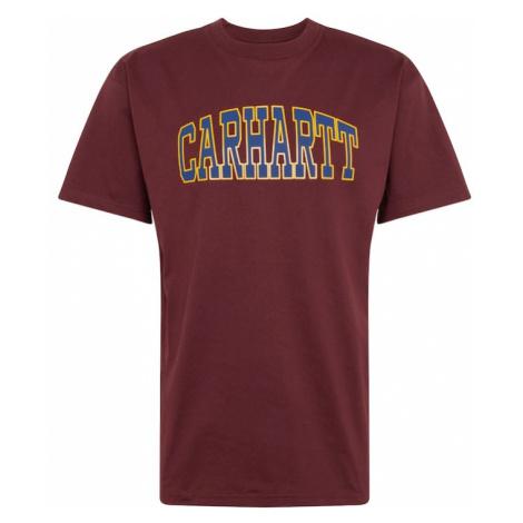 Carhartt WIP Koszulka 'Theory' żółty / czerwone wino