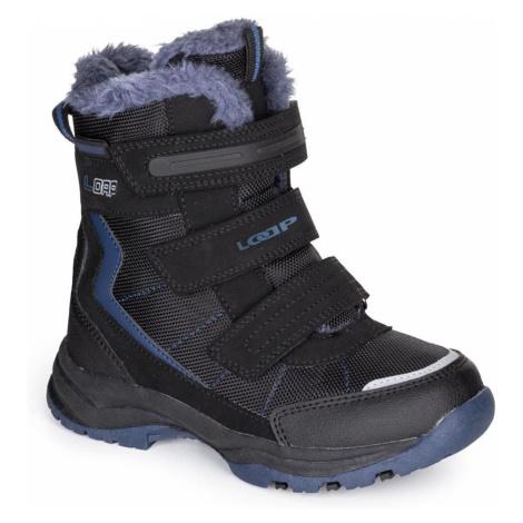 Czarne dziecięce buty zimowe LOAP