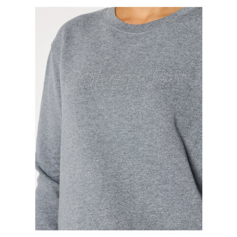 Calvin Klein Bluza Ls Logo Stud K20K202353 Szary Regular Fit