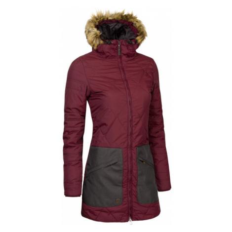 Damski Pikowany Płaszcz Zimowy | Bordowy Pinna Pluma Chica Woox