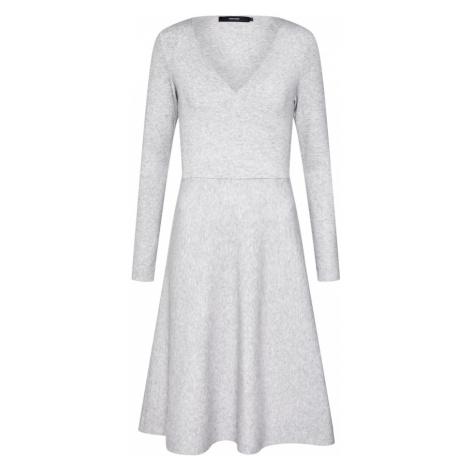 VERO MODA Sukienka 'VMNANCY WRAP LS KNIT DRESS' jasnoszary
