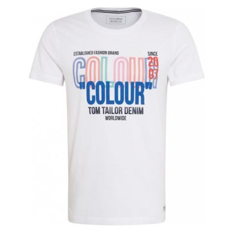 TOM TAILOR DENIM Koszulka biały