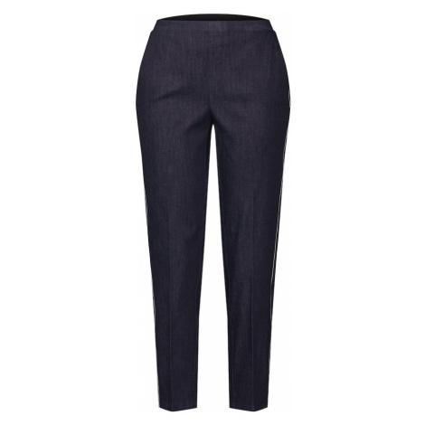 OPUS Spodnie 'Edira' ciemny niebieski / biały
