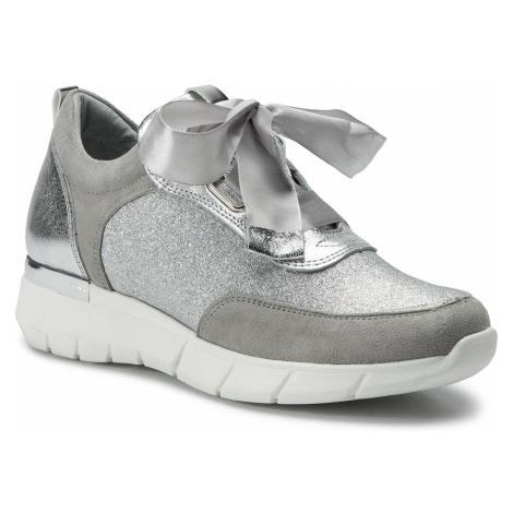 Sneakersy KARINO - 2912/127-P Szary/Srebny