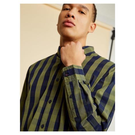 ZOOT niebiesko-zielona koszula męska w kratę Richard
