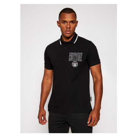 Versace Jeans Couture Polo B3GZB7T4 Czarny Regular Fit