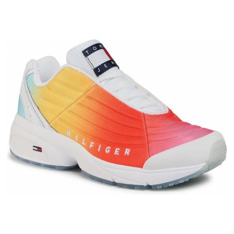 Sneakersy TOMMY JEANS - Heritage Degrade Sneaker EN0EN00939 Pink Daisy TOU Tommy Hilfiger