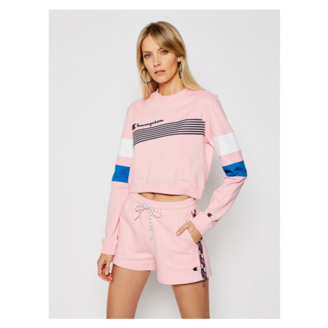Champion Bluza Graphic Stripe And Colour Block 112761 Różowy Custom Fit