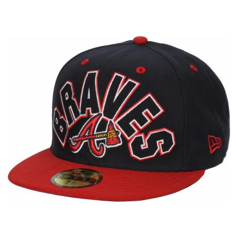 czapka z daszkiem New Era 59F Big Word MLB Atlanta Braves - Team