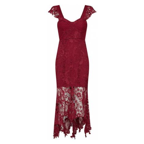 Love Triangle Sukienka koktajlowa 'Clementine' bordowy