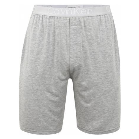 Calvin Klein Underwear Spodnie od piżamy szary / jasnoszary / biały