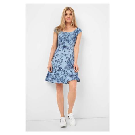 Wiskozowa sukienka w kwiaty Orsay