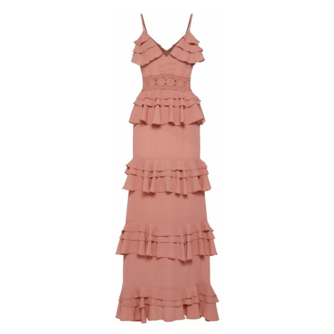 Boohoo Sukienka 'Darcey Crochet' stary róż